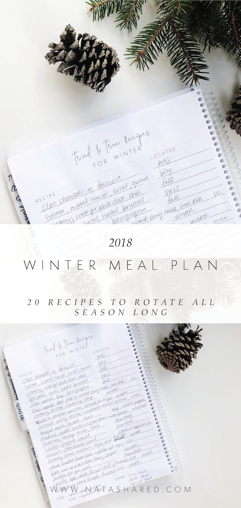Winter+Seasonal+Meal+Plan+2018+ +Eat+Seasonally+ +Winter+Recipes+ +Winter+Recipe+Rotation